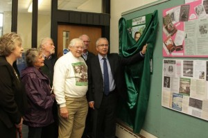 Councillor Keith Purdom, Chairman of Wilmslow Town Council, performed the opening ceremony of the exhibition by the Romany Society at Wilmslow Library on Monday, 12th May