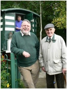 George Swalwell with Terry Waite at the Vardo in 2006